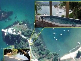 Casa em terreno com mar,  Praias da Baleia e Tartaruga. caiaques e opcao veleiro