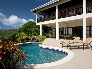 Private Luxury Vacation Villa In Lush Tropical Setting With Stunning Ocean Views