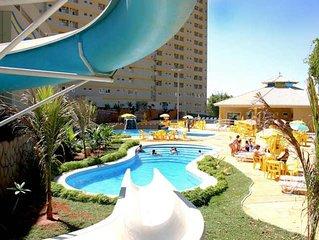 Golden Dolphin,suite 9 piscinas, 3 toboagua sauna, 24H para 3 pessoas, reformado