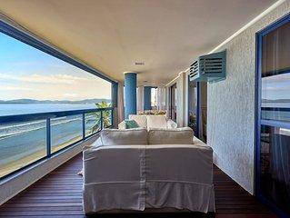Apartamento frente para mar em Itapema com 2 Suite + 2 quartos e 2 garagens.