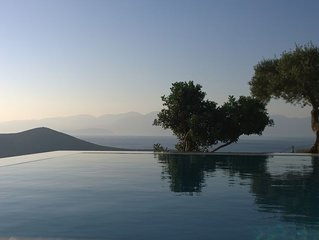 Villa with swimming pool with panoramic views: Spinalonga Mirabello bay Elounda