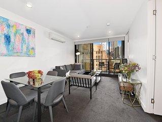 Fully furnished 2 bedroom Apt 1010/33 Mackenzie Street Melbourne