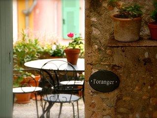 L'Oranger - apt w/gdn, sea view, in heart of Old Town nr beach & Inst de Franc