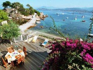 Porticcio: Corse Location Villa pieds dans l'eau Isolella