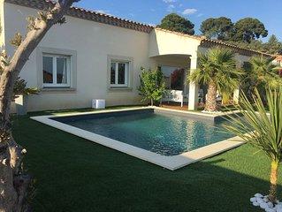 Grande villa familiale 180 m2 située entre mer et montagne avec piscine