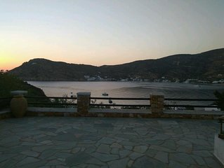 Cycladic villa with a magnificent view of Vathy bay in Sifnos island!!