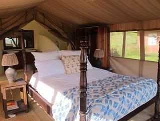 Two Idyllic Safari Tents In A Stunning Bush Setting.