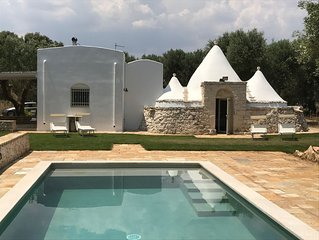 TRULLO MICHELE WITH BRAND NEW SWIMMING POOL IN THE BEAUTIFUL PUGLIAN COUNTRYSIDE