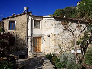 Casa Nero; Traditional Stone House Outside, Restored Modern 3 Bed-Home Inside