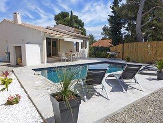 Bandol, Villa (8 pers.), piscine privee, jardin, calme, parking