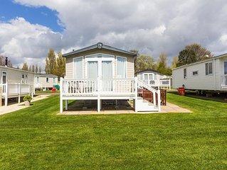 Luxury 8 berth caravan for hire at Hopton Haven holiday park Norfolk ref 80038CC