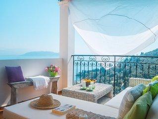 Villa Agni: Stunning views of Agni Bay, village location