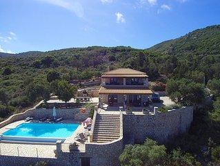Villa Anatoli, Korithi, exclusive villa overlooking Aghios Nikolaos port, Zante