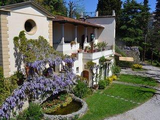 Appartamento in villa con giardino e vista su Firenze