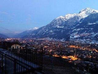 Aosta  appartamento Bioula in villa. Finiture di pregio.  TERRAZZA PANORAMICA!!