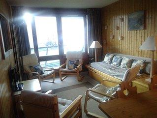 Vaste appartement avec 2 terrasses, au pied des pistes, pour 9 personnes