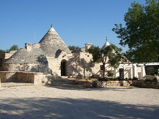 'Soul of Puglia' - A Rural Gem 3BR/3BA (ensuite) Hilltop Trulli w/ POOL & Views