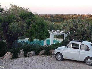 'Soul of Puglia' - A Rural Gem 3BR/3BA, A/C, WiFi, Hilltop w/ POOL & Views
