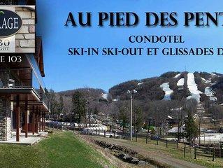 Un vrai ski in ski out sur la montagne de Bromont