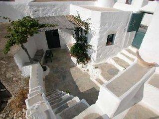 Amorgos: Maison traditionnelle de village à Langada
