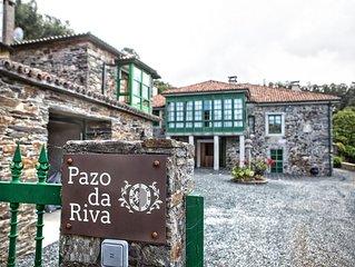 Casa independiente en Pazo Gallego cercano a la playa (Casa dos Arcos)