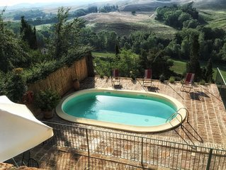Pasqui Villas:  Capanna ,country chic house in a village: garden,pool,view,WIFi