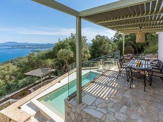 Villa Oliva - Breathtaking view from a luxury Villa in Spartilas, Corfu