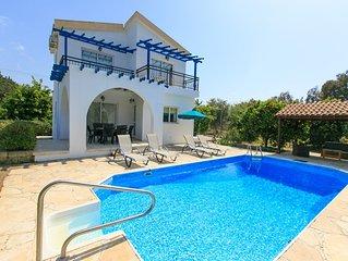 Sun Beach Villa: Large Private Pool, Walk to Beach, A/C, WiFi, Car Not Required