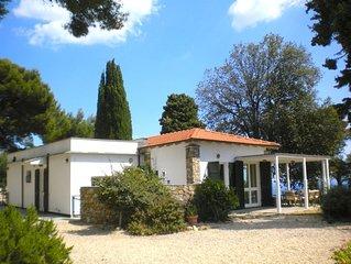 Villa Alpicella nel cuore di un parco di ulivi pini cipressi a picco sul mare
