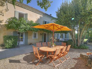 A stunning family home, 5 minutes from Uzes and 30 minutes from Avignon.