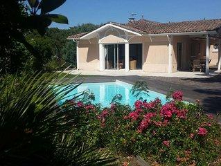 Pyla sur Mer Belle Villa  4 chambres avec piscine idéalement située au calme
