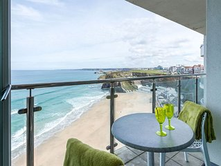 Stunning cliff top apartment with breathtaking 'WOW' sea views overlooking beach