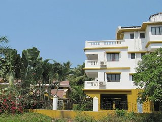 2 Bedroom Apartment (A) In Betalbatim South Goa - Internet & Shared Private Pool