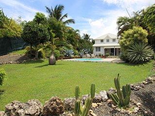 Superbe villa creole de standing  avec piscine et spa privatifs