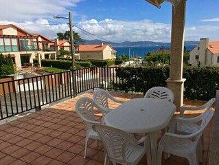 Piso 4 habitaciones con jardín y parking a 3 min de la Playa de Areas (Sanxenxo)