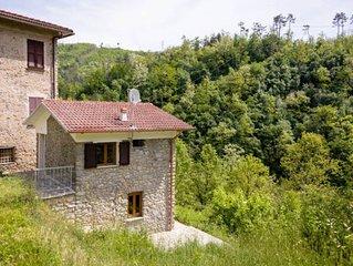 5Terre (Sesta Godano): Casa Conscenti, gemutliches Rustico direkt am Vara-Fluss