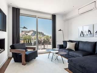 Executive 2 Bedroom Suite in Plaka with Acropolis view