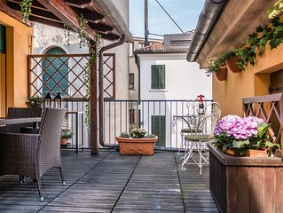JUNGLE CHIC WITH TERRACE *TREVISO CITY CENTER