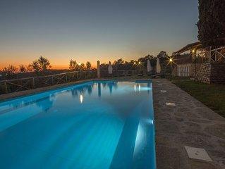 Agriturismo Henni Cortona con piscina sauna e jacuzzi vista panoramica