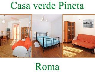 Casa Verde Pineta, un delizioso appartamento vicino alla Citta del Vaticano.