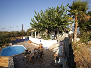 Traditional greek house with pool, a classic retr