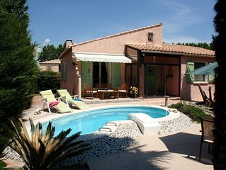 Villa with private pool, pretty village on the Canal du Midi, Languedoc