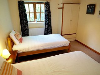 Spacious two bedroomed acccommodation in idyllic rural setting