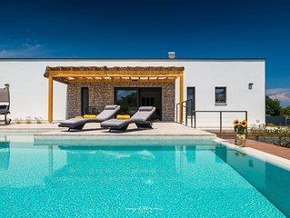 Modern villa with pool near Pula