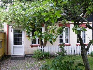 Pittoreskt gatuhus i centrala Malmö