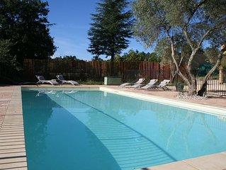 Provence Villa 9 personnes (+2 bebes) avec piscine privee et chauffee 11X5m