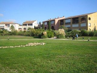 Delightful, beach-side garden apartment on the Gulf of St Tropez