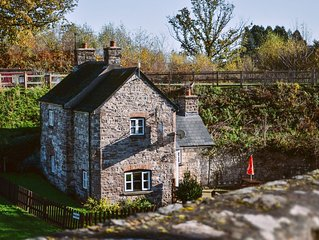 A canalside cottage, within Goytre Wharf on the Monmouthshire & Brecon Canal