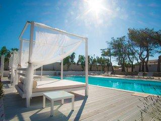 Villetta vista piscina con wi-fi gratuito in Salento