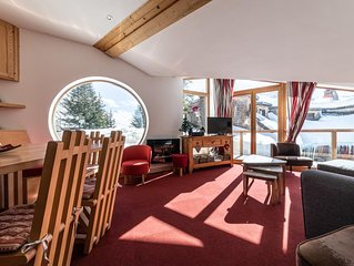 180m2 LUXURY CHALET, PANORAMIC VIEWS, SPA,CLEANING INCLUDED IN CENTRE OF AVORIAZ